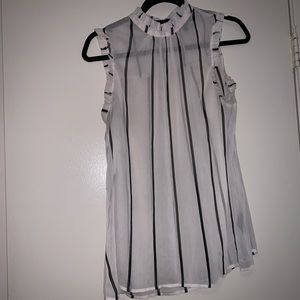 Black and white stripped blouse